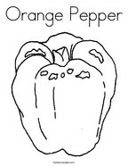 Orange Pepper Coloring Page