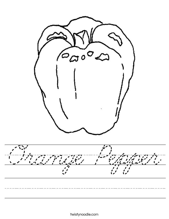 Orange Pepper Worksheet