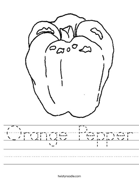 Orange Pepper Worksheet