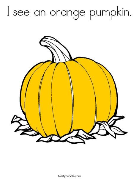 Orange Pumpkin Coloring Page