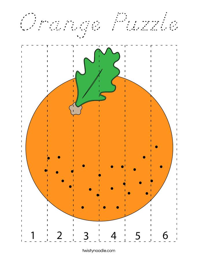 Orange Puzzle Coloring Page