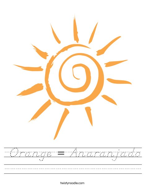 Orange Sun Worksheet