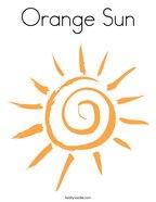 Orange Sun Coloring Page