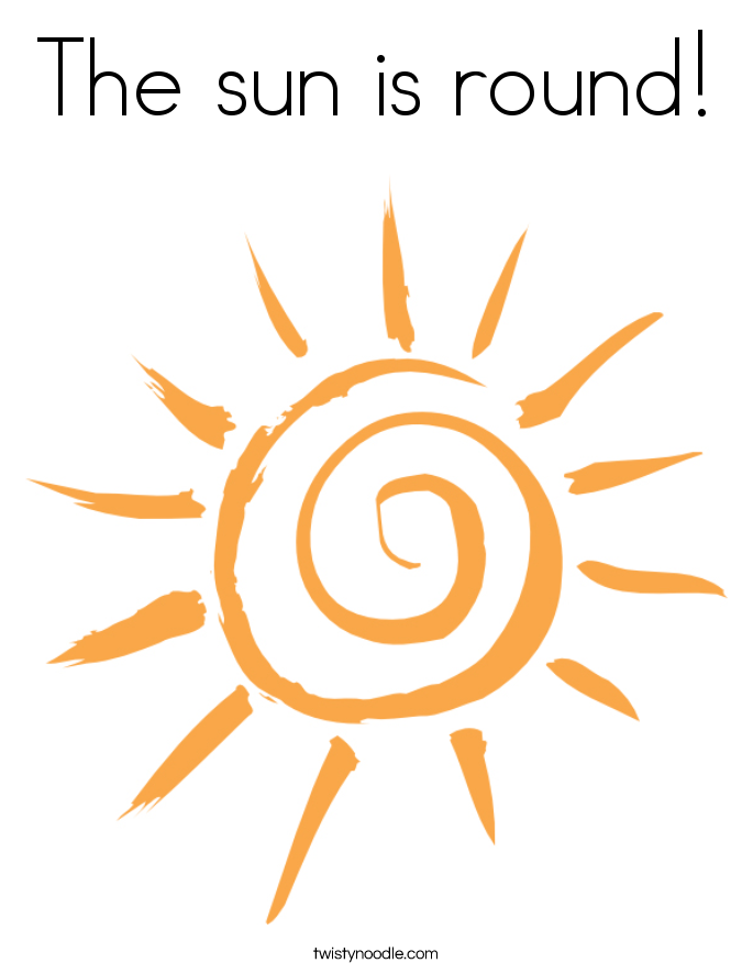 The sun is round! Coloring Page