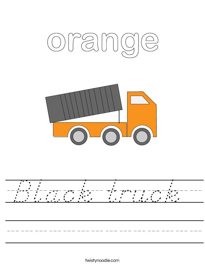 Black truck  Worksheet