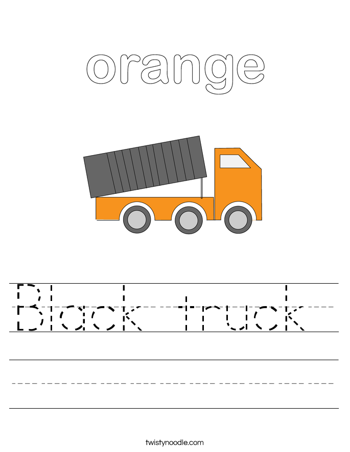 Black truck  Worksheet
