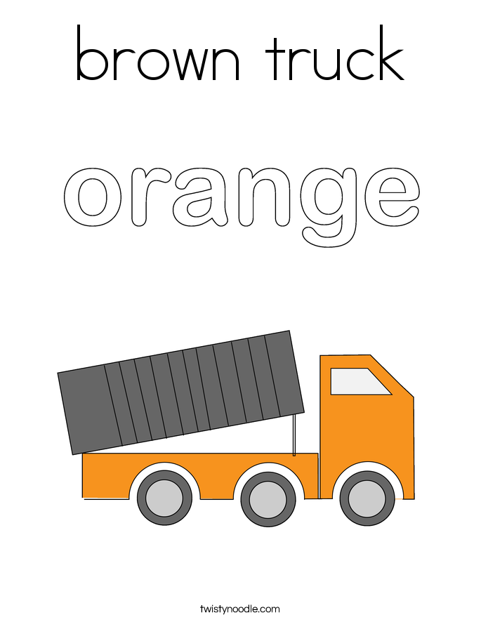 brown truck Coloring Page