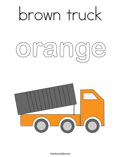 Orange Truck Coloring Page