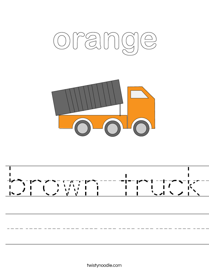 brown truck Worksheet