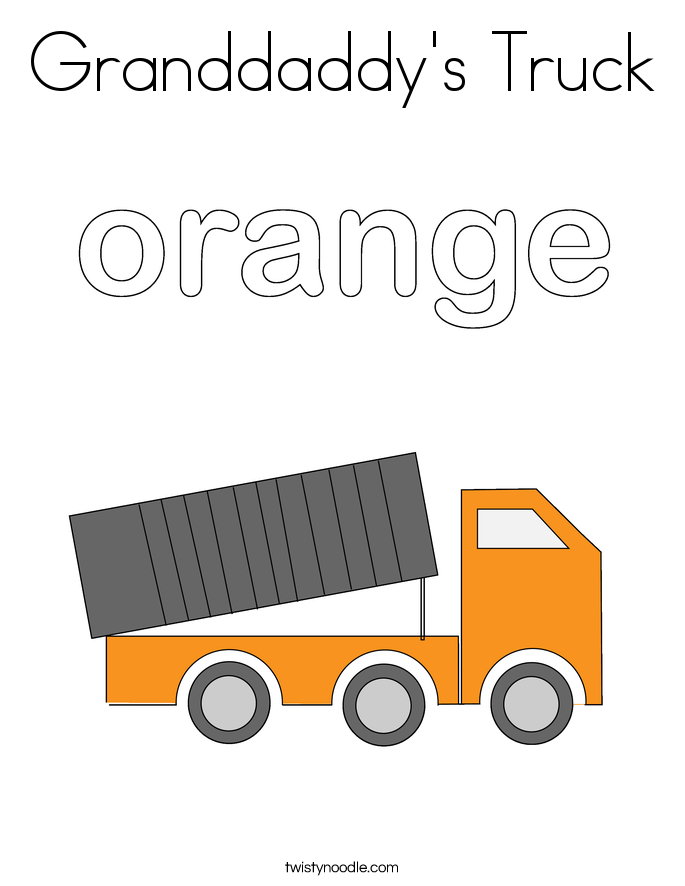 Granddaddy's Truck Coloring Page