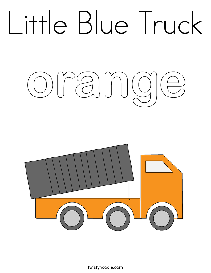Little Blue Truck Coloring Page