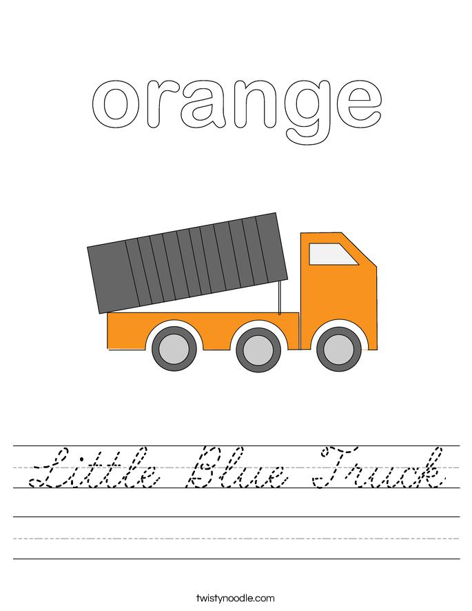 Little Blue Truck Worksheet
