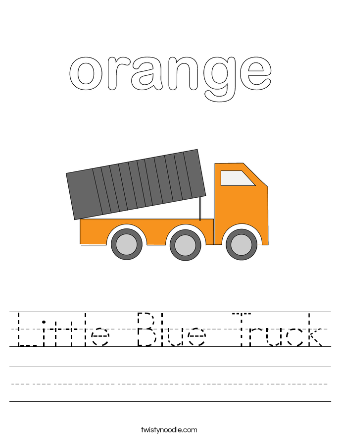 Little Blue Truck Worksheet