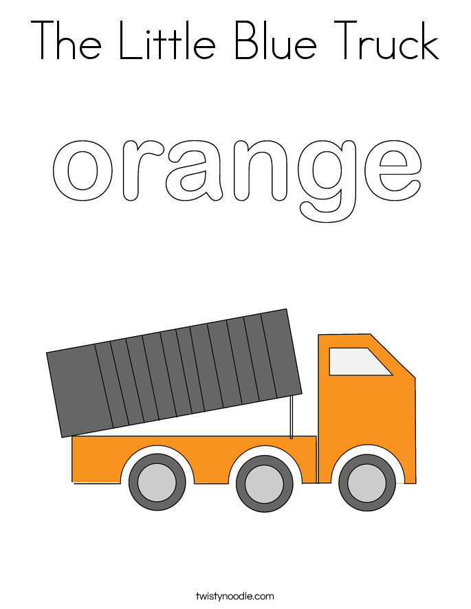 The Little Blue Truck Coloring Page - Twisty Noodle
