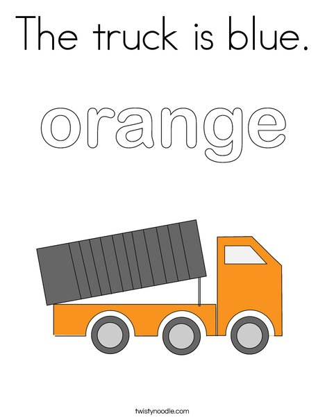 little blue truck coloring pages The truck is blue Coloring Page   Twisty Noodle little blue truck coloring pages