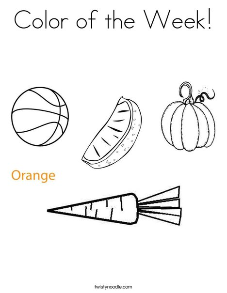 Color of the Week Coloring Page - Twisty Noodle