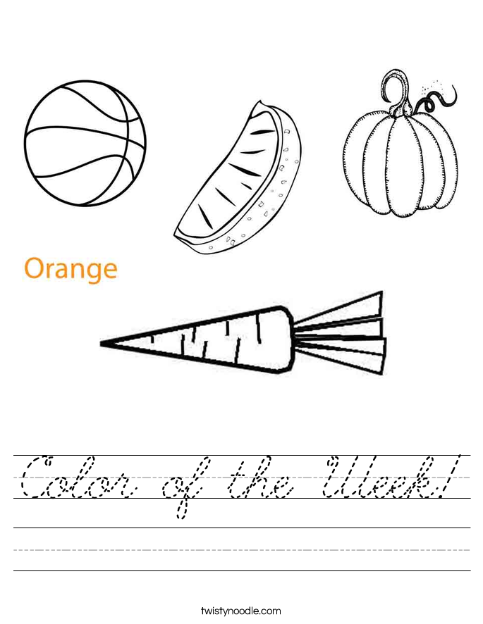 Color of the Week! Worksheet