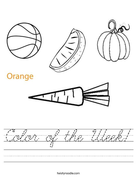Orange Worksheet