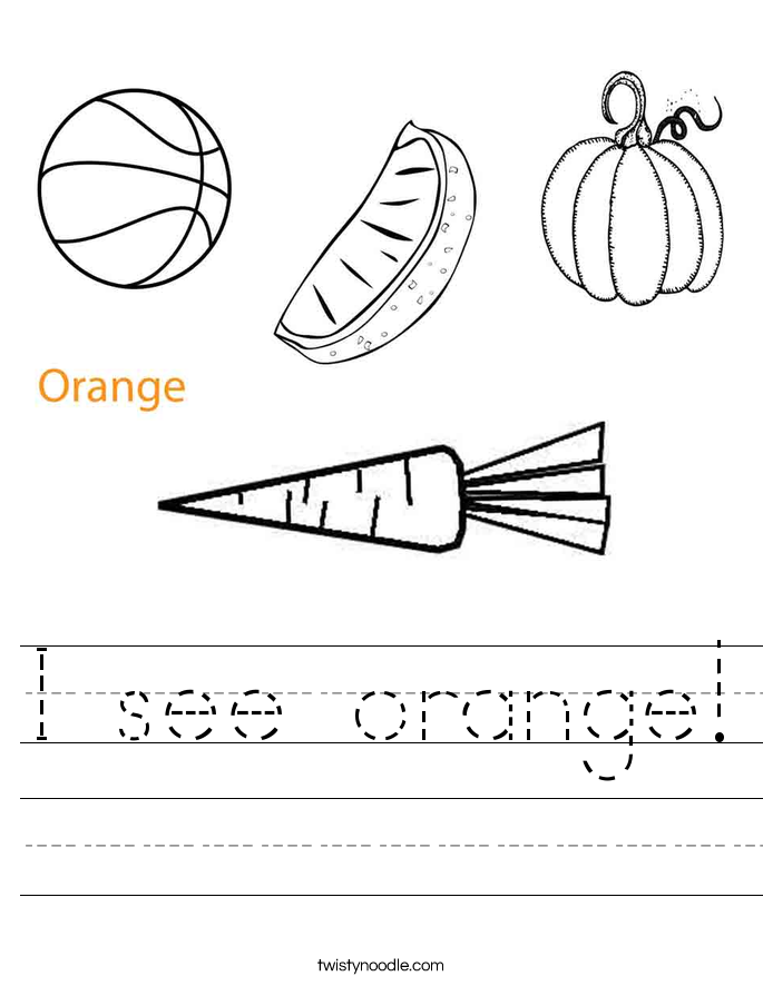 I see orange! Worksheet