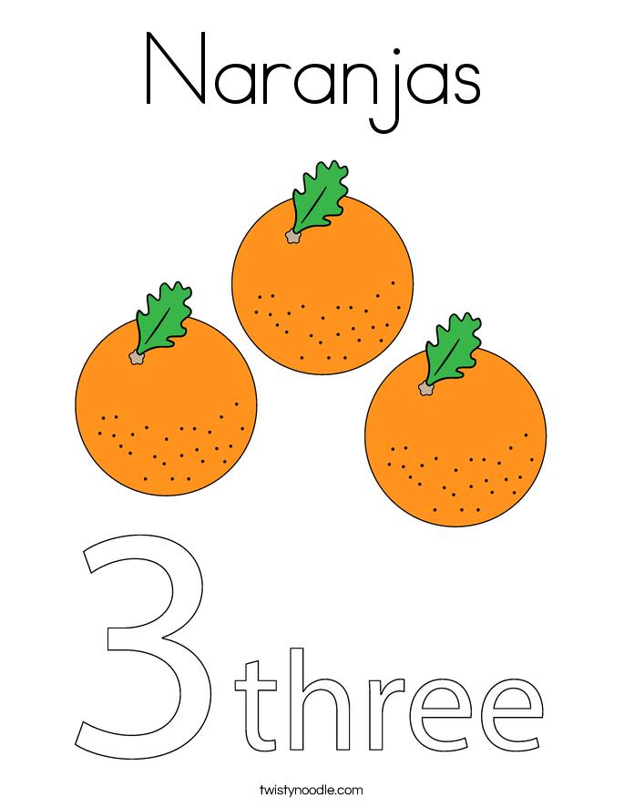 Naranjas Coloring Page