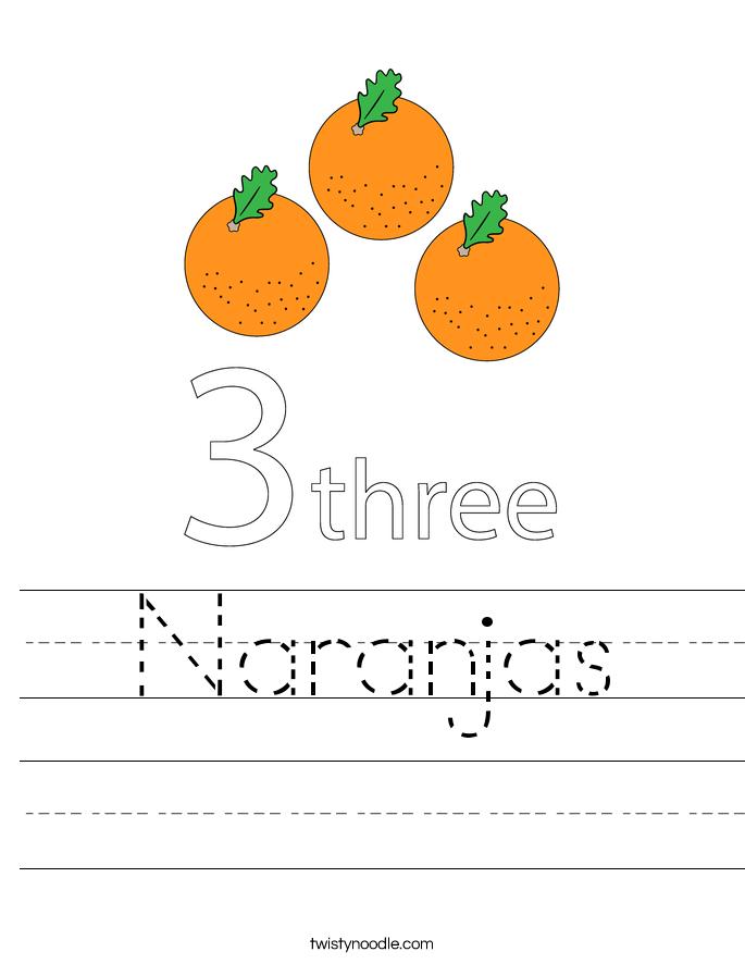 Naranjas Worksheet