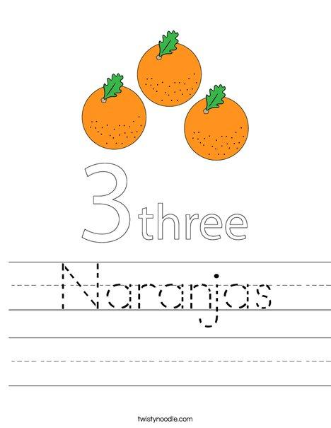 Oranges Worksheet