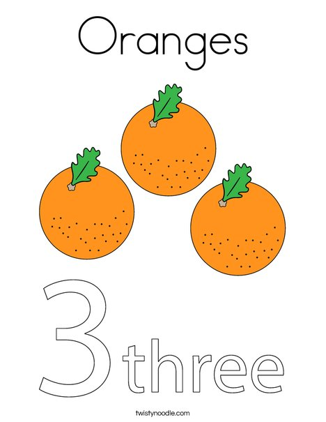 Oranges Coloring Page