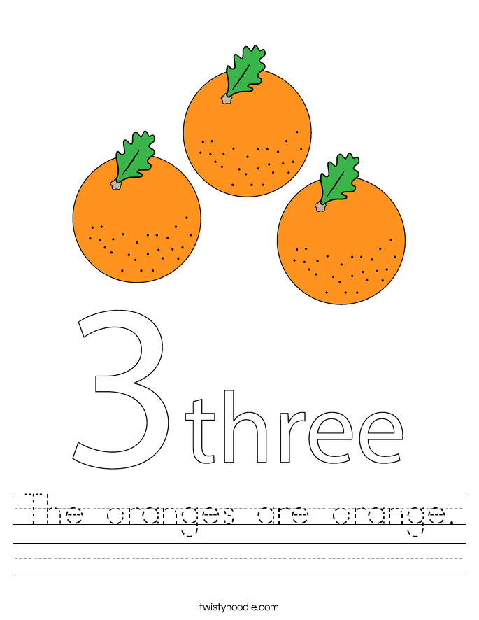 The oranges are orange. Worksheet