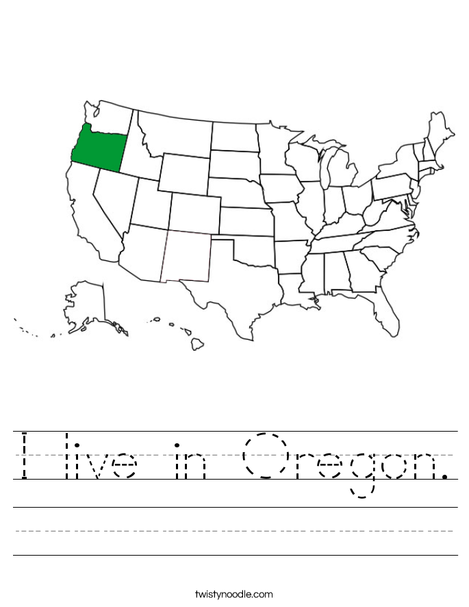 I live in Oregon. Worksheet