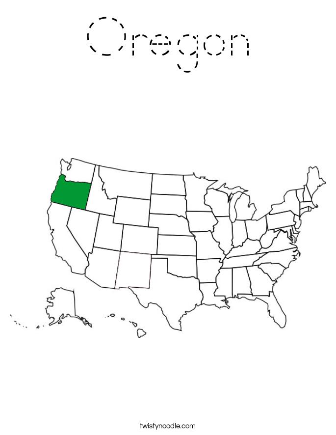 Oregon Coloring Page