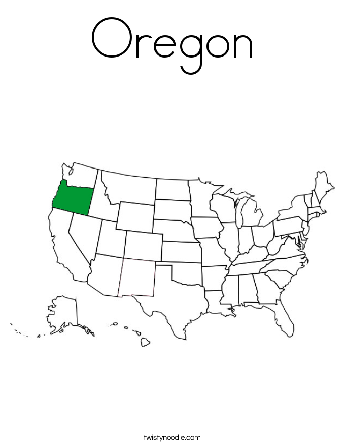 Oregon Coloring Page