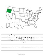 Oregon Handwriting Sheet