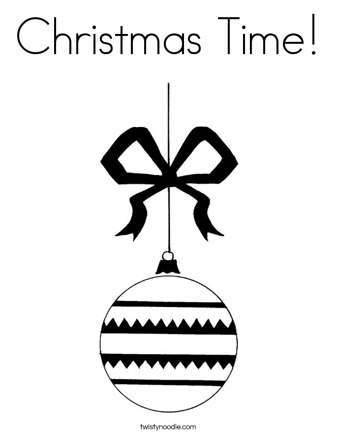 Christmas Time! Coloring Page