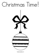 Christmas Time Coloring Page