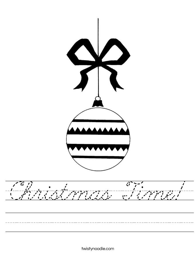 Christmas Time! Worksheet