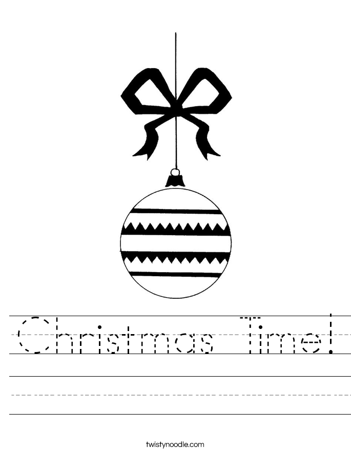 Christmas Time! Worksheet
