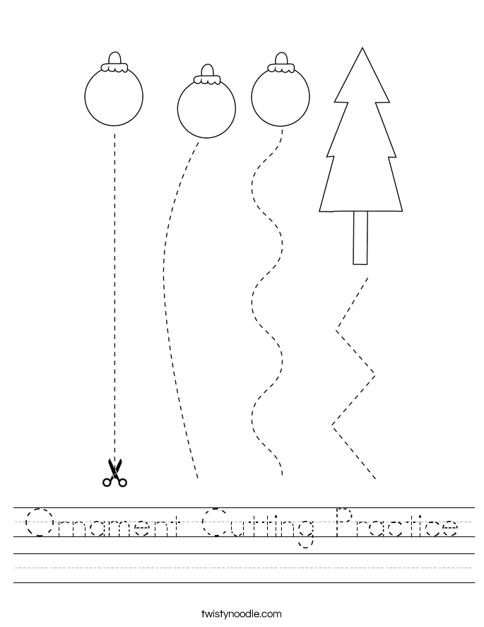 Ornament Cutting Practice Worksheet