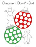 Ornament Do-A-Dot Coloring Page