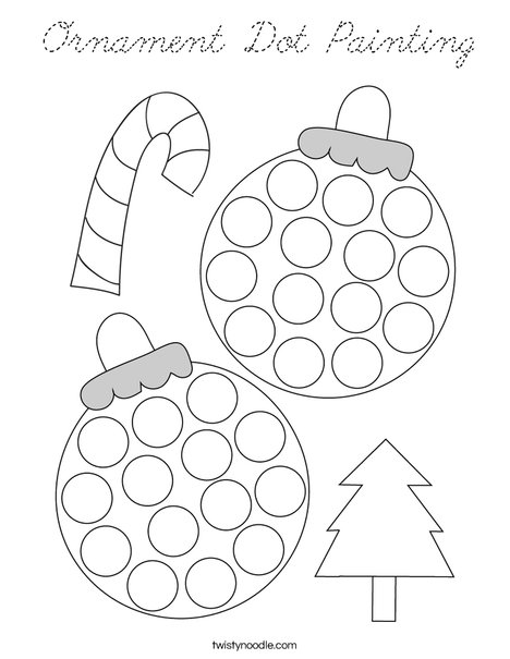 Ornament Dot Painting Coloring Page