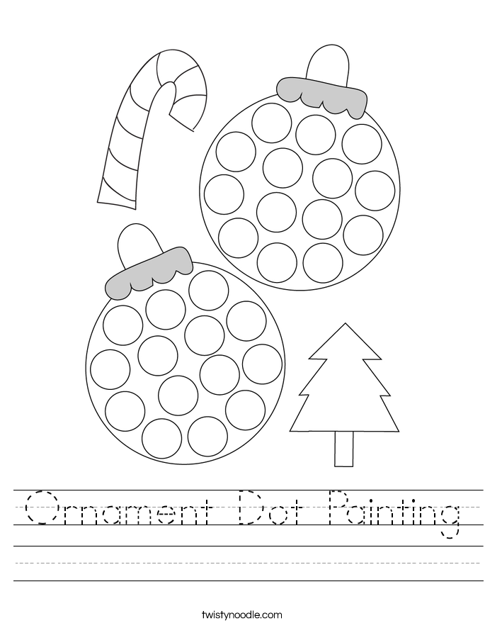 Ornament Dot Painting Worksheet