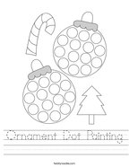 Ornament Dot Painting Handwriting Sheet
