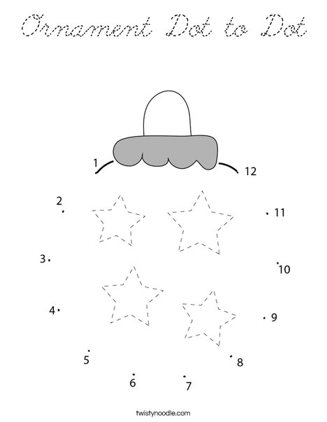 Ornament Dot to Dot Coloring Page