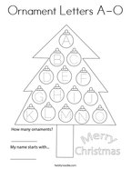 Ornament Letters A-O Coloring Page