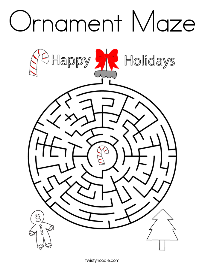 Ornament Maze Coloring Page