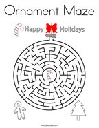 Ornament Maze Coloring Page