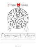 Ornament Maze Worksheet