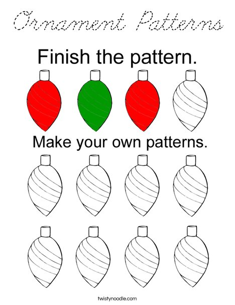 Ornament Patterns Coloring Page
