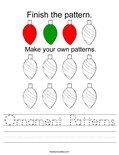 Ornament Patterns Worksheet