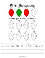 Ornament Patterns Handwriting Sheet