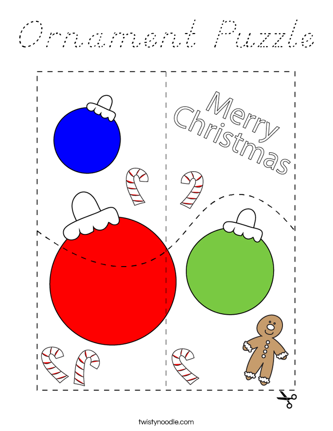 Ornament Puzzle Coloring Page